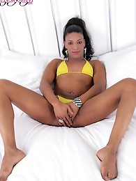 French tgirl returns to Black TGirls for another sexy solo scene!