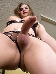 Beautiful Tiffany posing her fat shecock