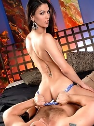 Sweet Domino getting her ass and mouth drilled hard by John